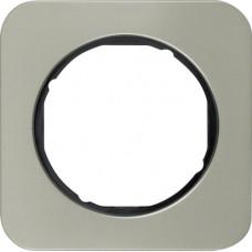 Рамка 1Х нержавіюча сталь/чорний, R.1 Berker 10112104