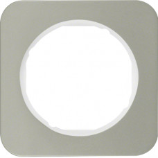 Рамка 1Х нержавіюча сталь, пол.білизна, R.1 Berker 10112114