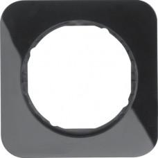 Рамка 1Х пластик, чорна, глянцева, R.1 Berker 10112145