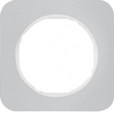 Рамка 1Х анодований алюміній, алюмінієвий/полярна білизна, R.1 Berker 10112174