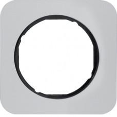 Рамка 1Х анодований алюміній, алюмінієвий/чорний, R.1 Berker 10112184