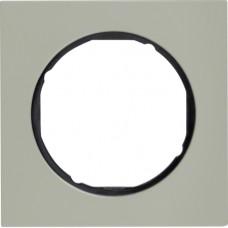 Рамка 1Х нержавіюча сталь, чорний, R.3 Berker 10112204