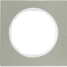 Рамка 1Х нержавіюча сталь, пол.білизна, R.3 Berker 10112214