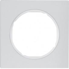 Рамка 1Х анодований алюміній, алюмінієвий/полярна білизна, R.3 Berker 10112274