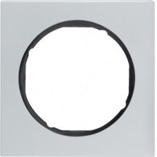 Рамка 1Х анодований алюміній, алюмінієвий/чорний, R.3 Berker 10112284