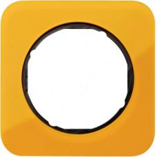 Рамка 1Х акріл прозорий, помаранчевий/чорний, глянцева, R.1 Berker 10112334
