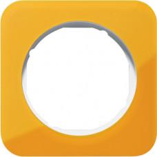 Рамка 1Х акріл прозорий, помаранчевий/полярна білизна, глянцева, R.1 Berker 10112339