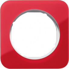 Рамка 1Х акріл прозорий, червоний/полярна білизна, глянцева, R.1 Berker 10112349