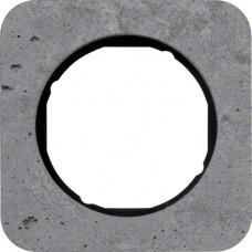 Рамка 1Х бетон шліфований, сірий/чорний, глянцева, R.1 Berker 10112374