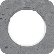 Рамка 1Х бетон шліфований, сірий/полярна білизна, глянцева, R.1 Berker 10112379