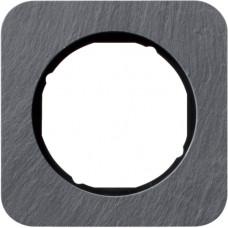 Рамка 1Х сланец природний, антрацитовий/чорний, глянцева, R.1 Berker 10112384
