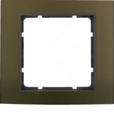 Рамка 1Х анодированный алюминий, коричневый/антрацитовый, матовый, B.3 Berker 10113001