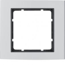 Рамка 1Х анодированный алюминий, алюминиевый/антрацитовый, матовый, B.3 Berker 10113004