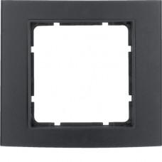 Рамка 1Х анодированный алюминий, черный/антрацитовый, матовый, B.3 Berker 10113005