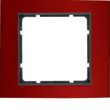 Рамка 1Х анодированный алюминий, красный/антрацитовый, матовый, B.3 Berker 10113012