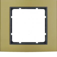 Рамка 1Х анодированный алюминий, золотой/антрацитовый, матовый, B.3 Berker 10113016
