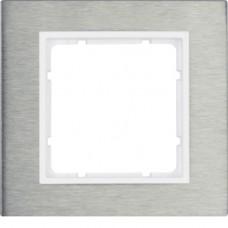 Рамка 1Х нержавеющая сталь, пол.белизна, матовый, B.7 Berker 10113609
