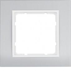 Рамка 1Х анодированный алюминий, алюминиевый/пол.белизна, матовый, B.3 Berker 10113904