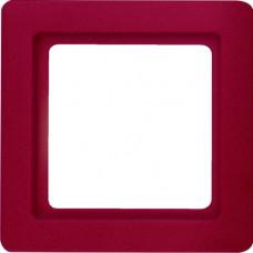 Рамка 1Х пластик, красный, с эффектом бархата, Q.1 Berker 10116062