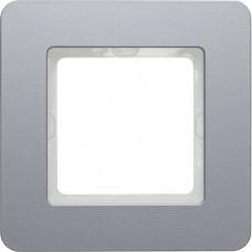 Рамка 1Х алюминий, струйная обработка, Q.7 Berker 10116074