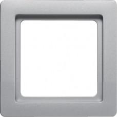 Рамка 1Х пластик, алюминиевый, бархатный лак, Q.1 Berker 10116084