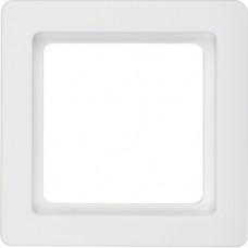 Рамка 1Х пластик, пол.белизна, с эффектом бархата, Q.1 Berker 10116089