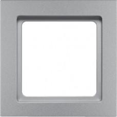 Рамка 1Х пластик, алюминиевый, бархатный лак, Q.3 Berker 10116094