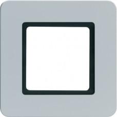 Рамка под LED-модуль 1Х пластик, алюминий, Q.7 Berker 10116104