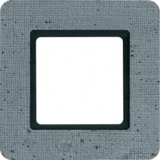 Рамка под LED-модуль 1Х бетон текстурированный, серый, Q.7 Berker 10116120