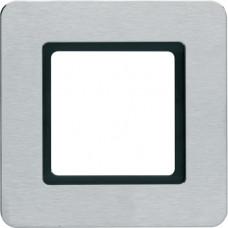 Рамка под LED-модуль 1Х нержавеющая сталь, металл кратцованный, Q.7 Berker 10116183