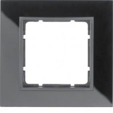 Рамка 1Х, стекло, черный/антрацитовый, матовый B.7 Berker 10116616