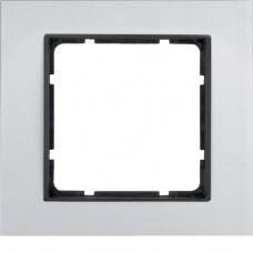 Рамка 1Х анодированный алюминий, алюминиевый/антрацитовый, матовый, B.7 Berker 10116904