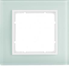 Рамка 1Х, стекло, пол.белизна/пол.белизна, матовый, B.7 Berker 10116909
