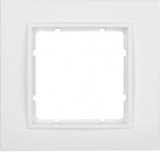Рамка 1Х, пластик, пол.белизна, матовый, B.7 Berker 10116919