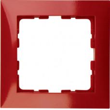 Рамка 1Х пластик, красный, глянцевый S.1 Berker 10118962
