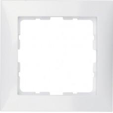 Рамка 1Х пластик, пол.белизна, глянцевый,S.1 Berker 10118989