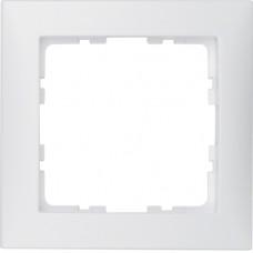 Рамка 1Х пластик, пол.белизна, матовый S.1 Berker 10119909
