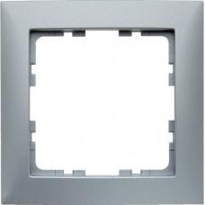 Рамка 1Х пластик, алюминиевый, матовый S.1 Berker 10119939