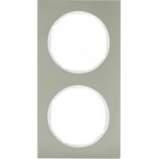 Рамка 2Х нержавіюча сталь, пол.білизна, R.3 Berker 10122214