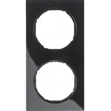 Рамка 2Х пластик, чорна, глянцева, R.3 Berker 10122245