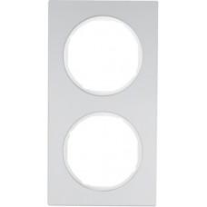 Рамка 2Х анодований алюміній, алюмінієвий/полярна білизна, R.3 Berker 10122274