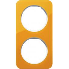 Рамка 2Х акріл прозорий, помаранчевий/полярна білизна, глянцева, R.1 Berker 10122339