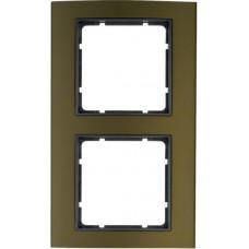 Рамка 2Х анодированный алюминий, коричневый/антрацитовый, матовый, B.3 Berker 10123001