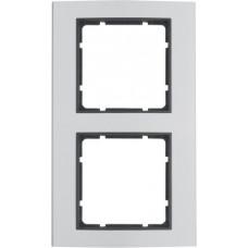 Рамка 2Х анодированный алюминий, алюминиевый/антрацитовый, матовый, B.3 Berker 10123004