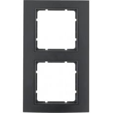 Рамка 2Х анодированный алюминий, черный/антрацитовый, матовый, B.3 Berker 10123005