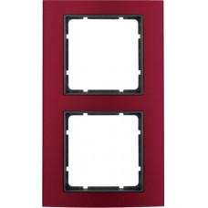 Рамка 2Х анодированный алюминий, красный/антрацитовый, матовый, B.3 Berker 10123012