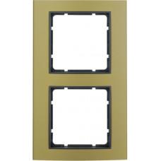 Рамка 2Х анодированный алюминий, золотой/антрацитовый, матовый, B.3 Berker 10123016