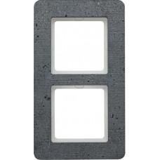 Рамка 2Х бетон текстурированный, серый, Q.7 Berker 10126020