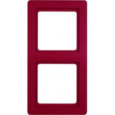 Рамка 2Х пластик, красный, с эффектом бархата, Q.1 Berker 10126062