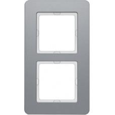 Рамка 2Х алюминий, струйная обработка, Q.7 Berker 10126074